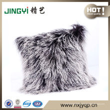 En gros 50X50CM cheveux longs mongole coussin d'agneau