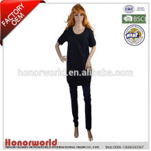 20 years BSCI approved factory good quality casual blouse for fat woman 2015