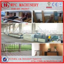 WPC Production Line Wood Plastic Composite Outdoor Furniture Production Line