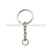 Corrente chave do anel partido do metal da alta qualidade da forma