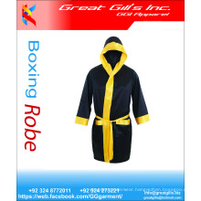 Satin Silk Boxing Gown Robe for Men / Custom Boxing Robe with Hood / Fancy Boxing Robe