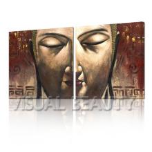 Arte de la lona del diseño de la pintura de Buda de la alta calidad para la decoración de la pared
