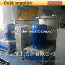 500kg por hora máquina mezcladora de plástico polímero para extrusora de plástico