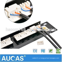 Китай Оптоволоконная коммутационная панель RJ11 1U UTP 25 портов 110-контактная патч-панель