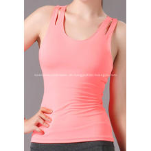 Sport aktive Frau Yoga Tank ausgehöhlt