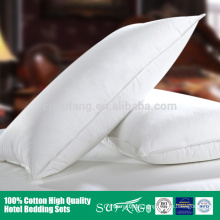 Hotel linen/Luxury imitated duck down 5 star hotel white inflated pillow wholesale