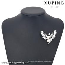 Broche de la joyería de piedra de la moda 00034-xuping, 925 broches de plata de la forma del ángel del color de plata
