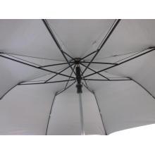 27 Zoll schwarz 2 umklappbare EVA Stiel Auto offenen Regenschirm (YS2F0009-3)