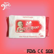Vente en gros des étiquettes privées Baby Wet Wipes Prix de Chine fabricant