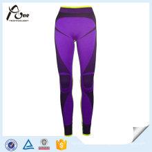 Calças de desporto de alta qualidade sem costura térmica longa roupa interior