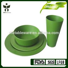 Наборы для свадебной посуды Bamboo Fiber Эко дружественные сервизы для столовой 4шт