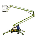 Top quality!! Articulated towable boom lift trailer mounted cherry picker man lift for sale
