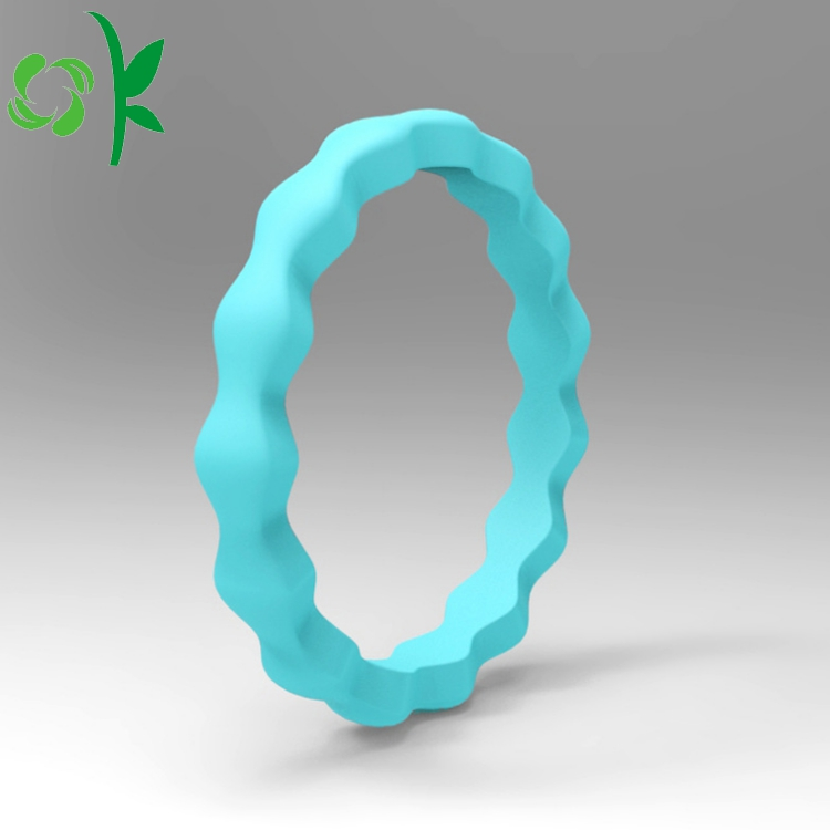 silicone blue ring