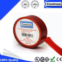 Cinta del aislamiento del vinilo de la codificación del color del PVC sensible a la presión