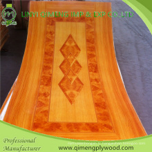 Contreplaqué de peau de porte de papier de polyester concurrentiel du prix 1.5-5.0mm de Linyi