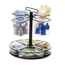 Breakroom Coffee and Condiment Rotary Organizer