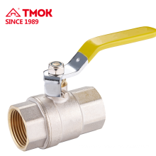 Plate with nickel or nature color High quality brass ball valve with brass stem ball body and PTFE in TMOK