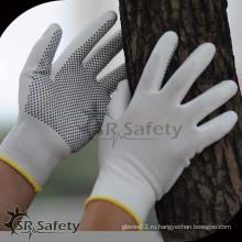 Защитная перчатка безопасности SRSafety PU / перфорированная перчатка / рабочая перчатка PU
