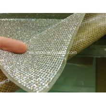 Hot Fix Adhesive Hoja de diamante, Crystal Diamond Mesh