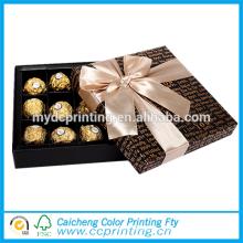 Caja de embalaje del chocolate del papel de embalaje de la corbata de lazo