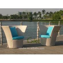SL-(31) outdoor furniture rattan high back round sofa chair