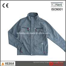 Polyester TPU Bonded Fleece Hiking Tactical Softshell Jacket