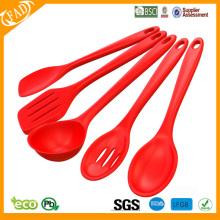 juego de utensilios de cocina y cocina de silicona de grado alimentario
