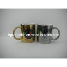 11oz Gold, Silver Sublimation Mugs, 11oz Sublimation Metallic Mug