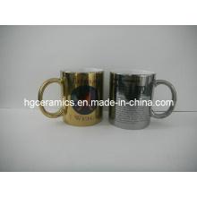 11oz Gold, Silver Sublimation Canecas, 11oz Sublimation Metallic Caneca