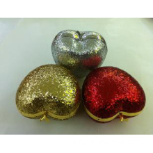 Fashionable Heart / Apple Shaped Shiny Sequin Girl's Party Clutch Bag (1029)