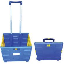 Cesta plástica multiuso 21 L CE certificado compras cestas CE certificado rolamento cestas plásticas