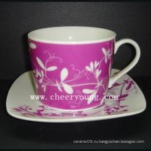 Кофейная чашка и блюдце (CY-P512A)