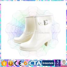 Мода стиль высокой пятки дамы дождь обувь