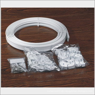 Vorhang Zubehör Kunststoff Ösen, Vorhang für geschwungene Wand, weiße Kunststoff Duschvorhang Ringe, Kunststoff Vorhang Stange