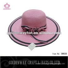 Chapeau de chapeau de chapeau en paille