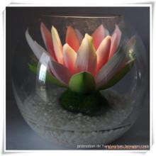 Künstliche Blumen der Pfingstrosen-LED mit Glasschale für Förderung