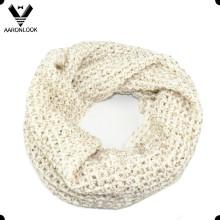 Мода трикотажные акриловые и блестками пряжи Snuff шарф