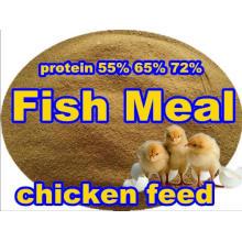 Comida de pescado de primer grado con alto contenido de proteína para alimentación animal