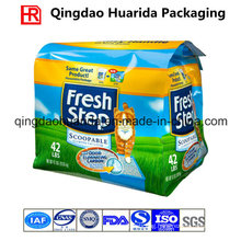 Flat Bottom Gusset Plastic Packaging Bag for Cat Litter