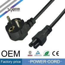 SIPU alta calidad europeo 2 pines al por mayor cable de enchufe de la UE para el ordenador portátil mejor precio de cable eléctrico de la computadora