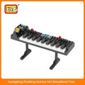LOZ electronic organ building block brick toy ,Intelligent construction block toy