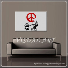 Banksy Peace Art Printed on Canvas For Sale