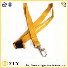 Ployester silk-screen logo lanyard with safety breakaway