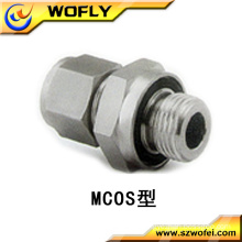 stainless steel straight thread connection /male turns female adaptor