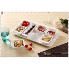 2015 Wholesale Cheap Ceramic Porcelain Fruit Tray Food Serving Tray