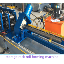 Supermarket rack shelf making machine