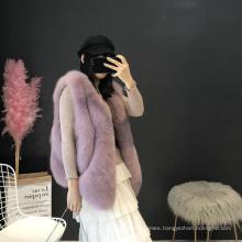 New Design Popular Thick Vest Fur Sleeveless Winter Tops for Women