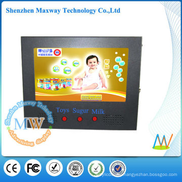 7 inch digital signage metal with buttons