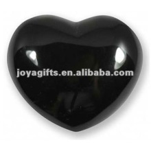 40MM Black Obsidian Stone Hearts