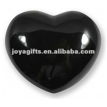 40MM Black Obsidian Stone Hearts